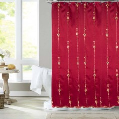 United Linens Jayden sequin embroidey shower curtain
