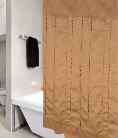 United Linens sequence embroidered fabric shower curtain