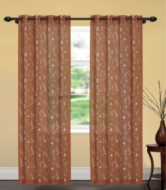 United linens single embroidery curtain (54x84)