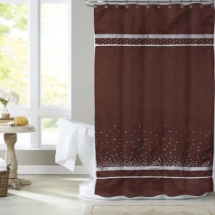 United Linens crystal sequin embroidey shower curtain