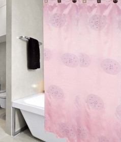 United Linens Peony Sequin embroidery fabric shower curtain